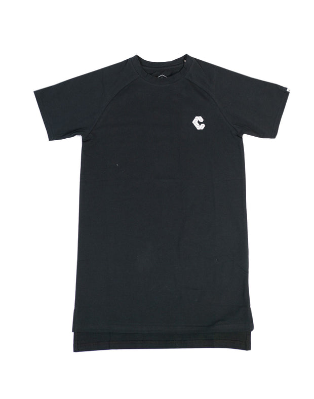CRONOS BACK BOX LOGO FIT T-SHIRTS BLACK