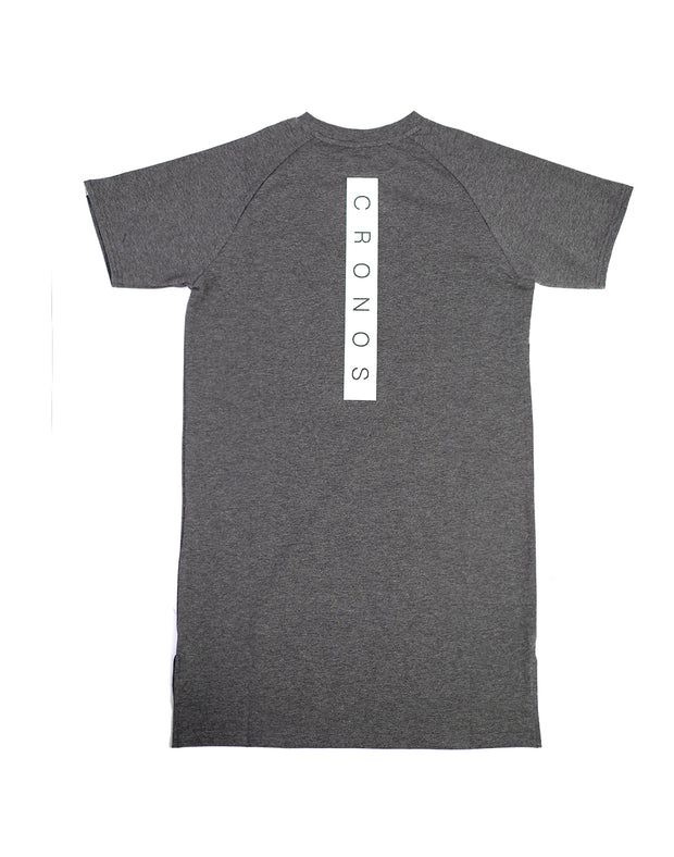CRONOS BACK BOX LOGO FIT T-SHIRTS GRAY