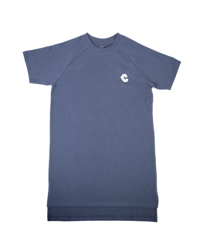 CRONOS BACK BOX LOGO FIT T-SHIRTS NAVY