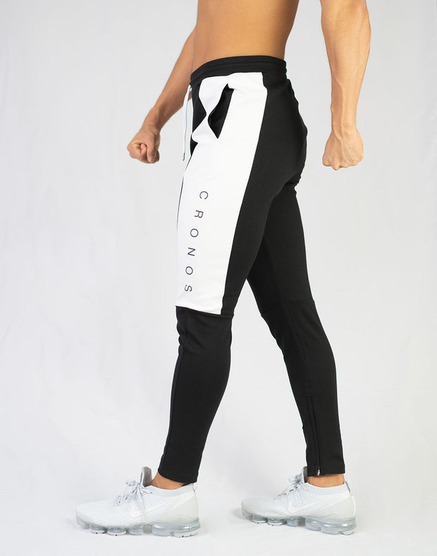 CRONOS SIDE LOGO PANTS BLACK x WHITE