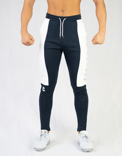 CRONOS SIDE LOGO PANTS NAVY x WHITE