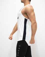 CRONOS BOX LOGO BACK MESH TANK TOP WHITE