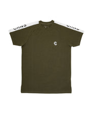 CRNS SHOULDER LOGO FIT T-SHIRTS 【KHAKI】