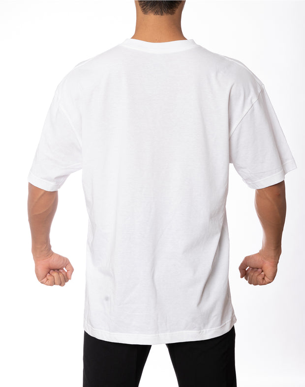 CRNS BOX LOGO OVER SIZE  T-SHIRT WHITE