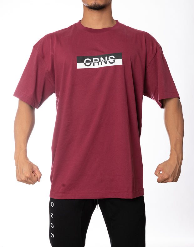 CRNS BOX LOGO OVER SIZE  T-SHIRT RED