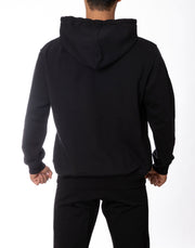NEW LOGO PULL OVER PARKA BLACK