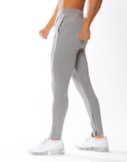 CRONOS HALF 2STRIPE CALF LOG PANTS GRAY