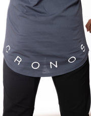 CRONOS WIDE CUFFS LOGO TANK TOP LIGHT.GRAY
