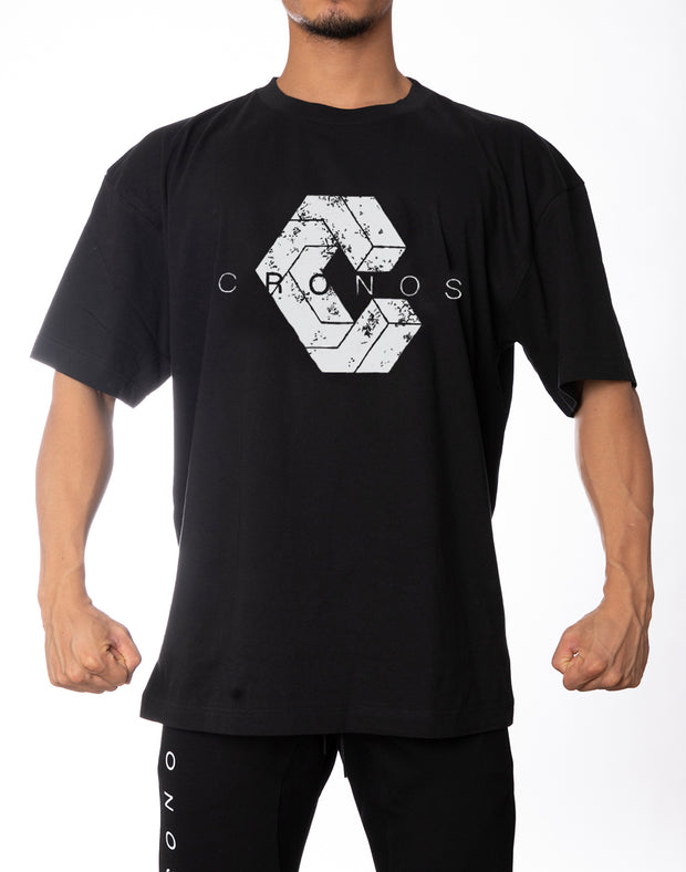 BIG LOGO OVER SIZE T-SHIRT BLACK