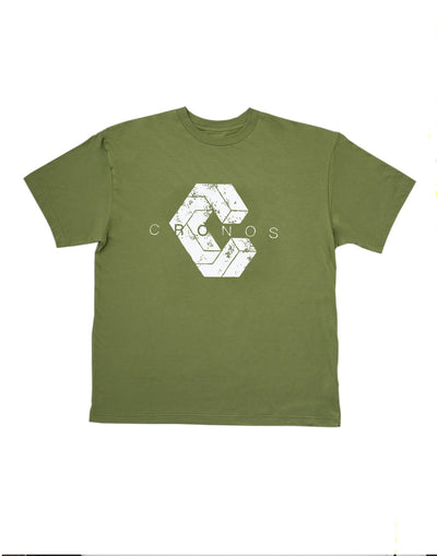 BIG LOGO OVER SIZE T-SHIRT OLIVE&KHAKI