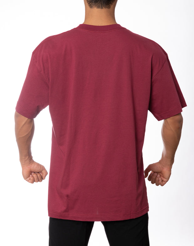 BIG LOGO OVER SIZE T-SHIRT RED