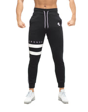 MODE TWO LINE JOGGER PANTS BLACKRestock