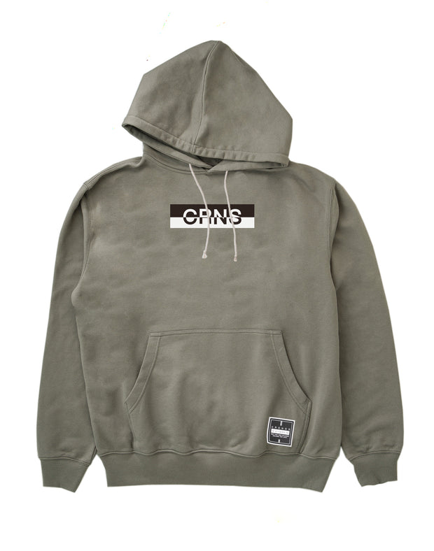 CRNS BOX LOGO PULL OVER PARKA GRAY