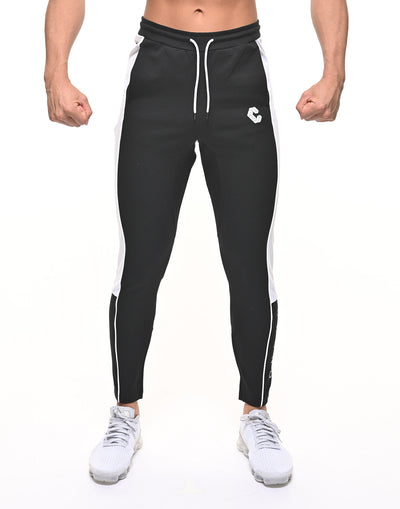 CRONOS THICK LINE LOGO PANTS BLACK
