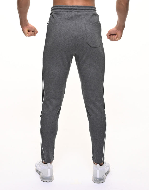 CRONOS THICK LINE LOGO PANTS C.GRAY