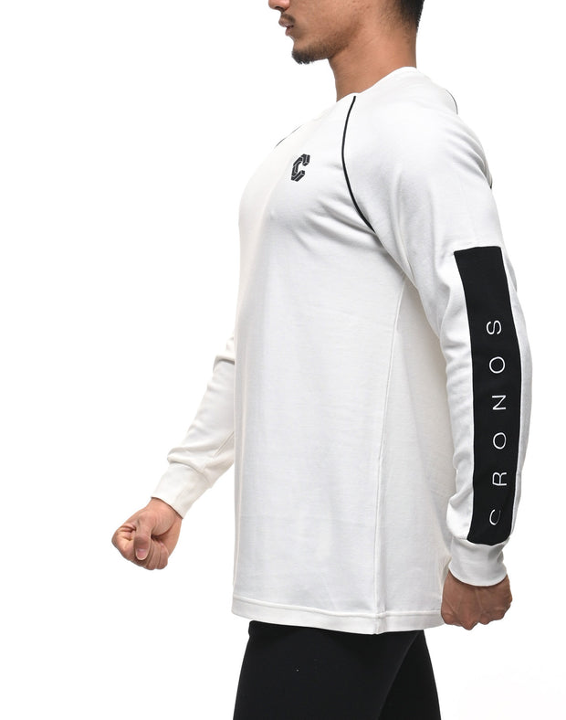 CRONOS ARM LOGO LONG SLEEVE WHITE