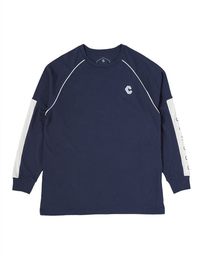 CRONOS ARM LOGO LONG SLEEVE NAVY