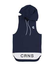 CRONOS BI-COLOR HOODY TANK TOP  NAVY