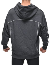 CRONOS ARM LOGO LINE ACCENT BIG SIZE HOODY GRAY