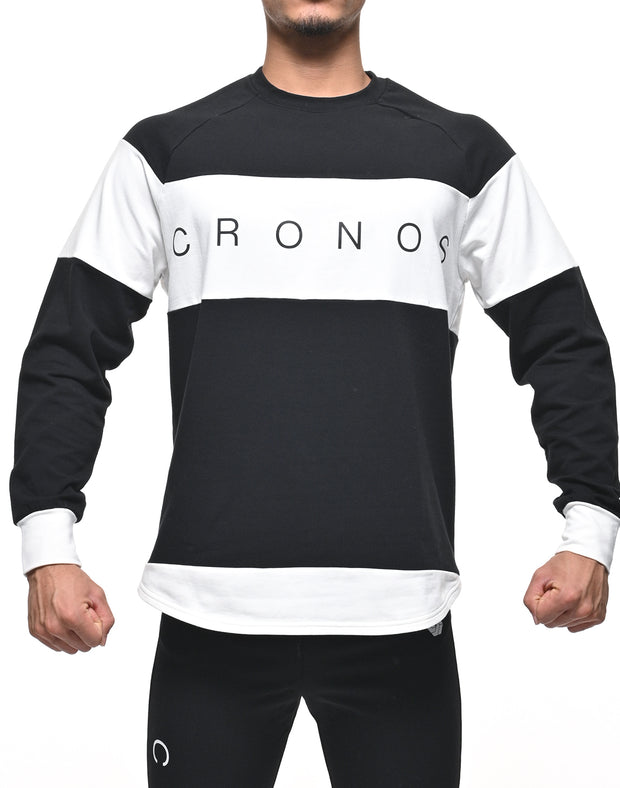 CRONOS Bi-COLOR  LONG SLEEVE BLACK