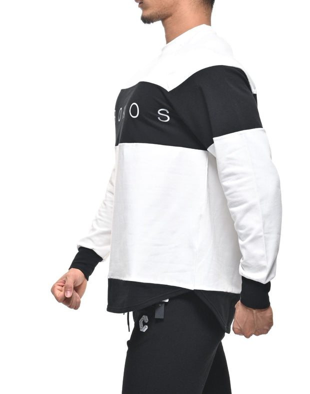 CRONOS Bi-COLOR  LONG SLEEVE WHITE