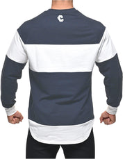 CRONOS Bi-COLOR  LONG SLEEVE NAVY