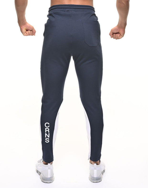 CRNS CALF SHAPE LINE PANTS NAVY