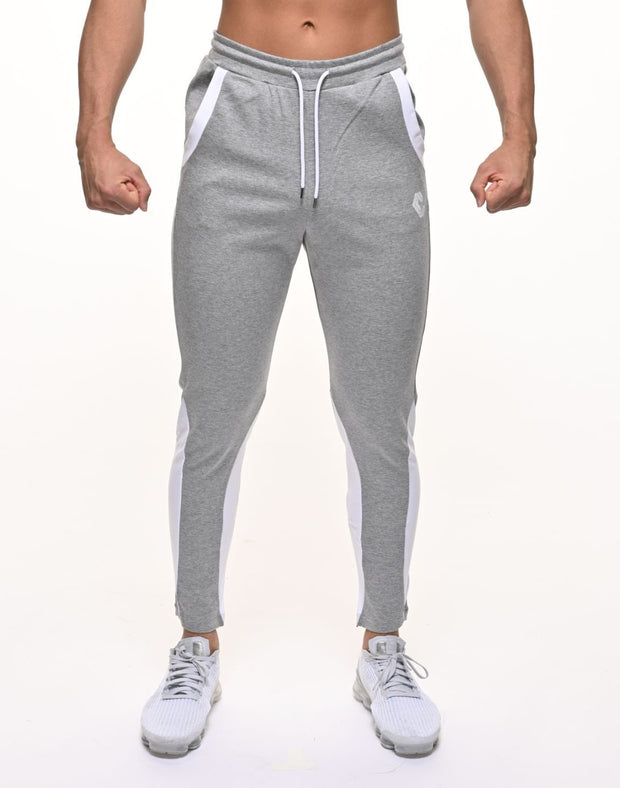 CRNS CALF SHAPE LINE PANTS GRAY