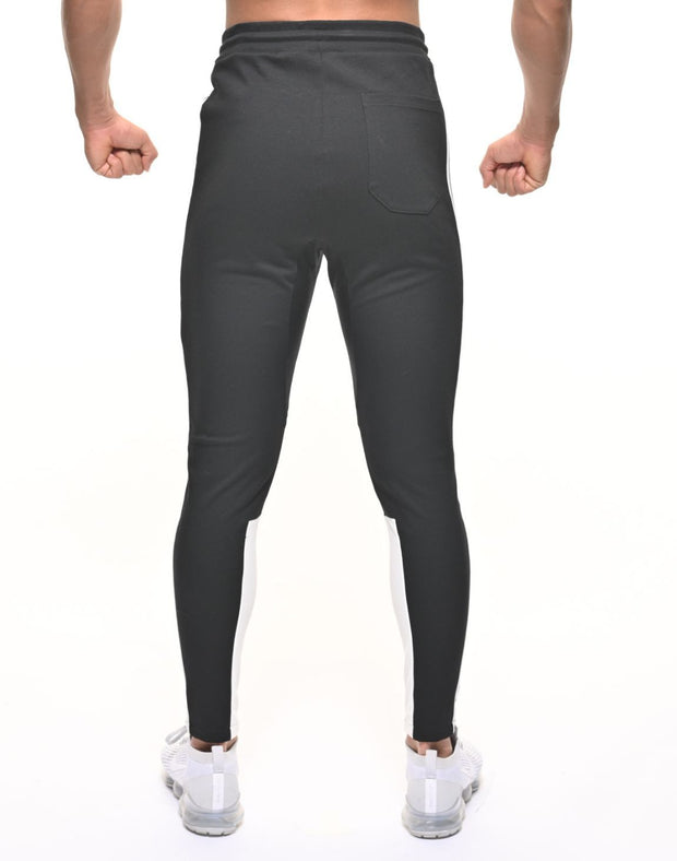 CRONOS SIDE THICK TAPE PANTS BLACK