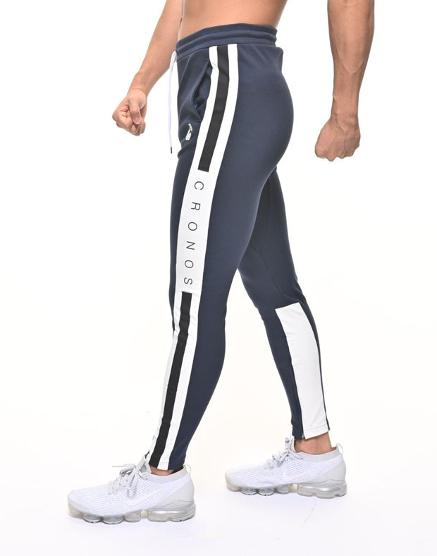 CRONOS SIDE THICK TAPE PANTS NAVY