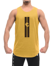 CRONOS STRIPE LOGO TANK TOP YELLOW