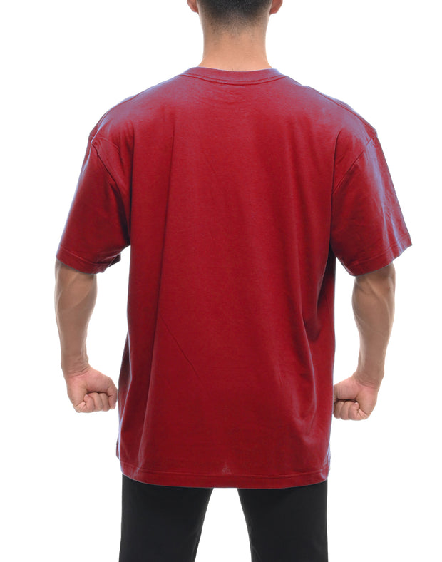 CRONOS STRIPE LOGO T-SHIRT RED