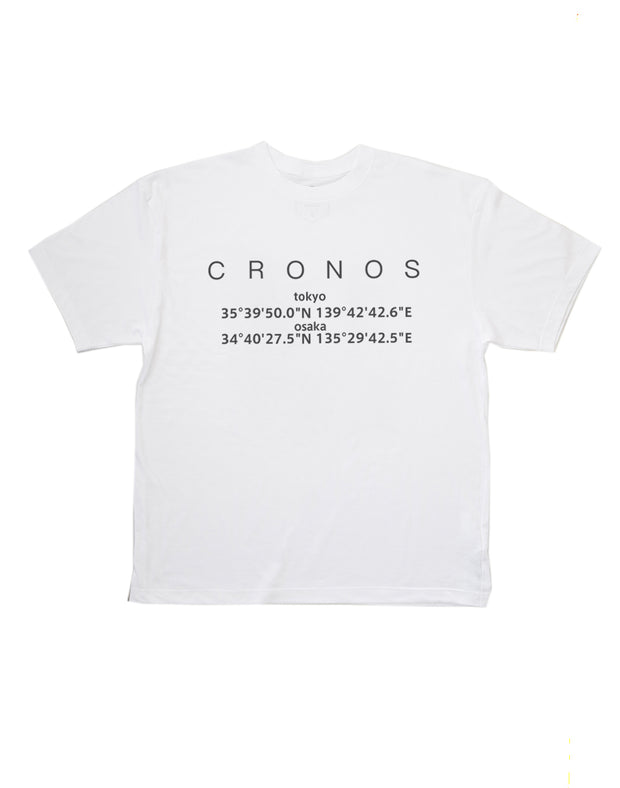 CRONOS LOCATION LOGO T-SHIRT WHITE