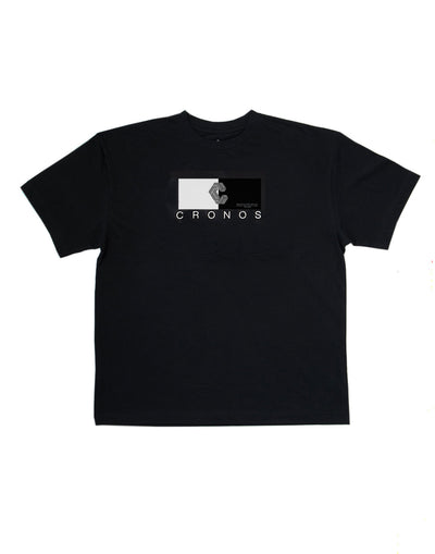 CRONOS HALF COLOR T-SHIRT BLACK