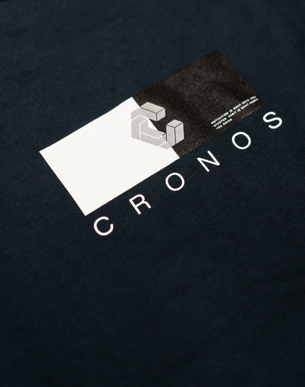 CRONOS HALF COLOR T-SHIRT BULE