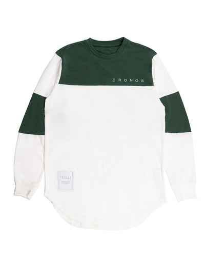 CRONOS NEW BICOLOR  LONG SLEEVE WHITE×GREEN