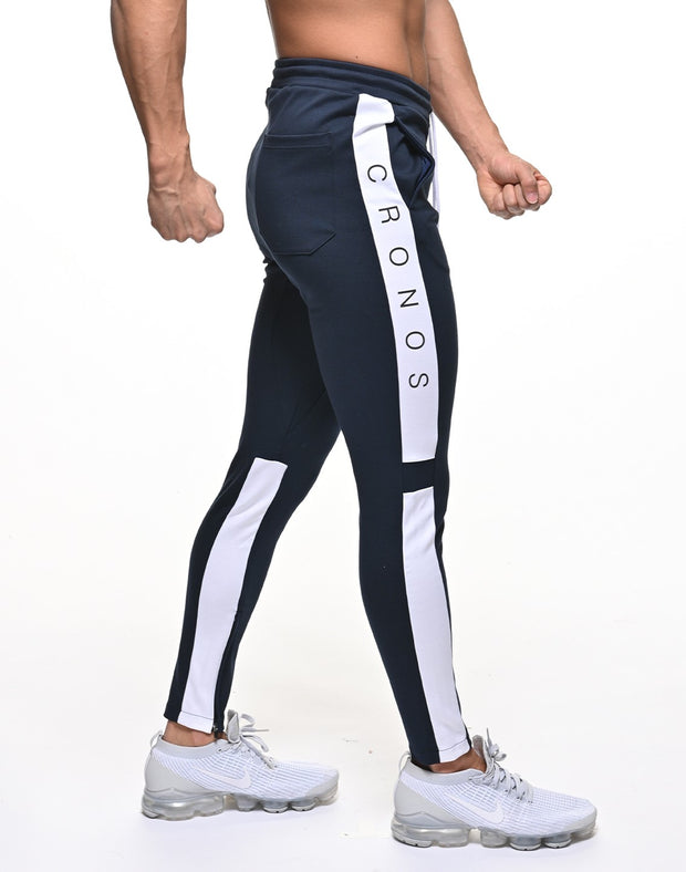 CRONOS NEW THICK LINE PANT 【NAVY×WHITE】