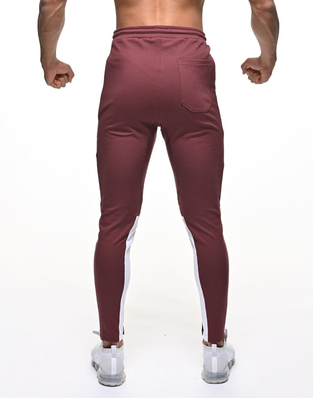 CRONOS NEW THICK LINE PANT 【BORDEAUX×WHITE】