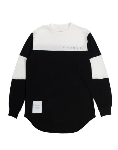 CRONOS NEW BICOLOR  LONG SLEEVE BLACK×WHITE