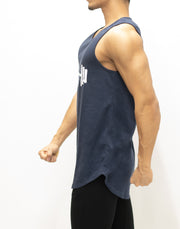CRONOS DUMBBELL LOGO TANK TOP【NAVY】
