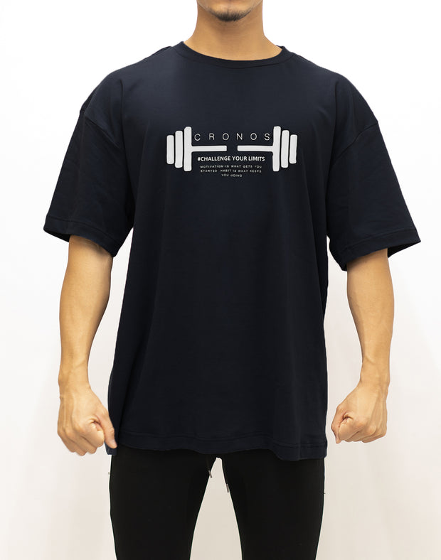 CRONOS DUMBBELL LOGO T-SHIRTS【BLACK】