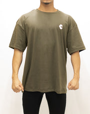 CRNS NEW BACK BIG  LOGO T-SHIRTS【OLIVE&KHAKI】