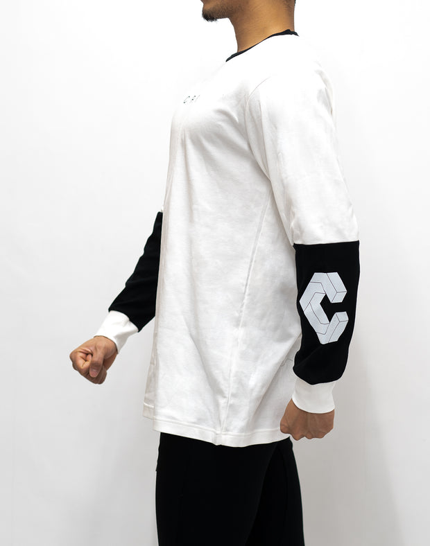 CRONOS NEW ARM LOGO LONG SLEEVE【WHITE】