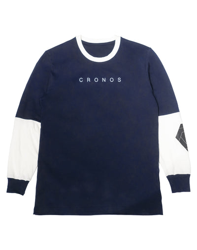 CRONOS NEW ARM LOGO LONG SLEEVE【NAVY】
