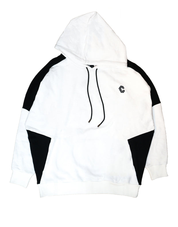 CRONOS NEW SHOULDER COLOR HOODY【WHITE×BLACK】