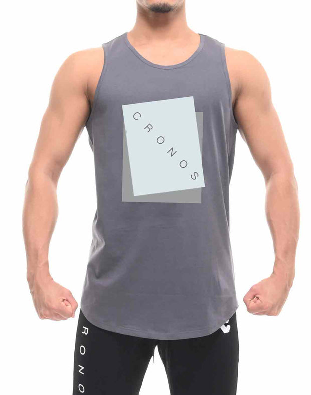 CRONOS NEW BOX LOGO TANKTOP【GRAY】