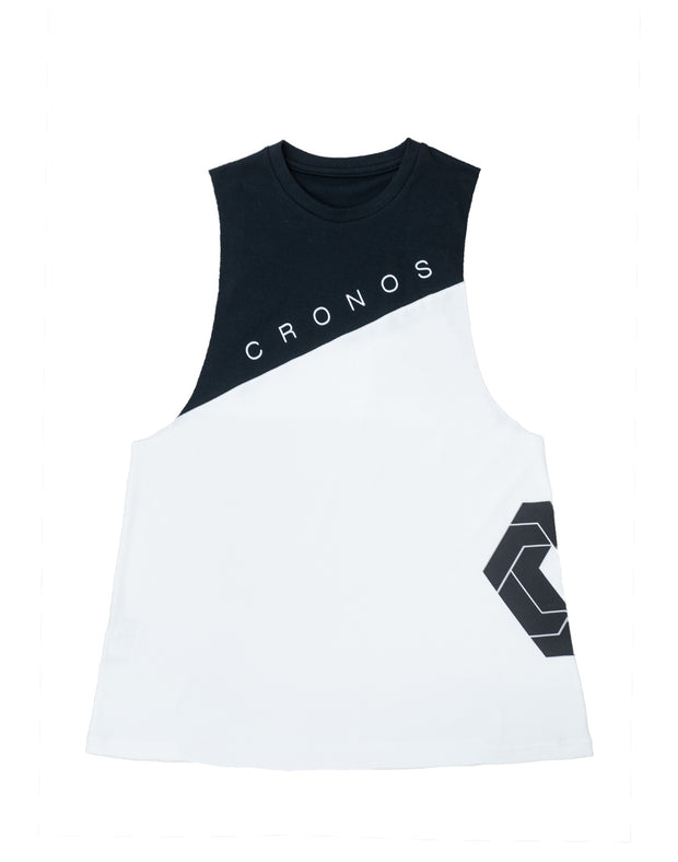 CRONOS NEW Bi-COLOR TANK TOP【WHITE×BLACK】