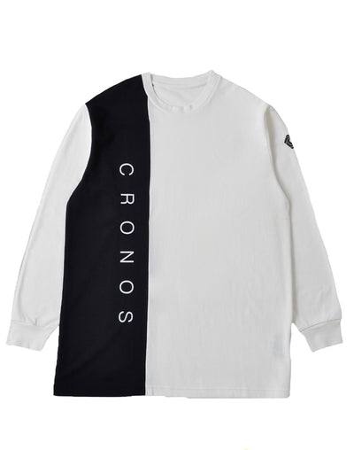 CRONOS RIGHT SIDE LINE LONGSLEEVE【WHITE】