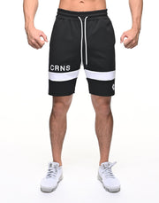 CRNS THICK LINE SHORTS【BLACK】