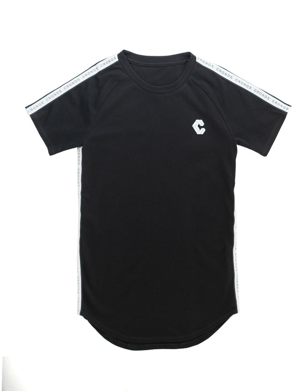 CRONOS LOGO STRIPE T-SHIRTS【BLACK】